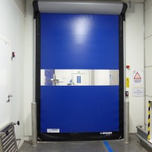 porte d313 cleanroom LLACCESS bleu